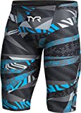 TYR APMH6A Men's Avictor Prelude Hight Jammer Swim Jammer, Black/Blue - 30