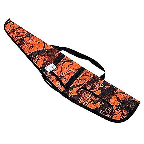 FIRECLUB táctico bolsa pistola Rifle de 48cm de ancho x 9, 5cm de largo hoja de arce versión naranja con acolchado y protección lateral bolsillo hombro Sling Correa
