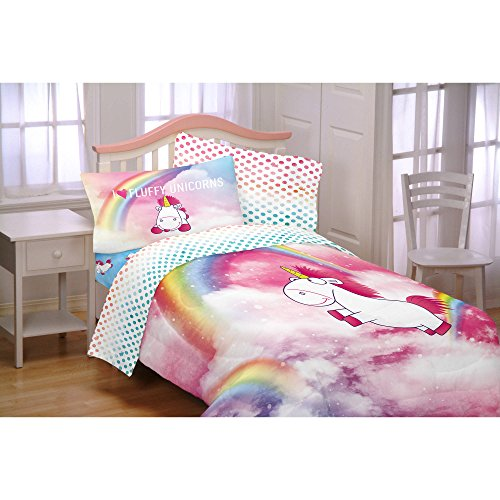 Despicable Me Minions Fluffy The Unicorn Girls Full Comforter & Sheet Set (5 Piece Bed In A Bag) + HOMEMADE WAX MELT