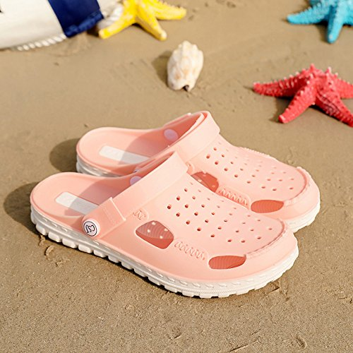 Clog Shoes Shoes Mules New Breathable Hollow Hole Sandals Garden Apodidae Pink Unisex Xfw0qnXz
