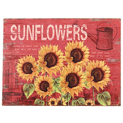 Barnyard Designs Six Sunflowers Retro Vintage Tin Bar Sign Country Home Decor 10