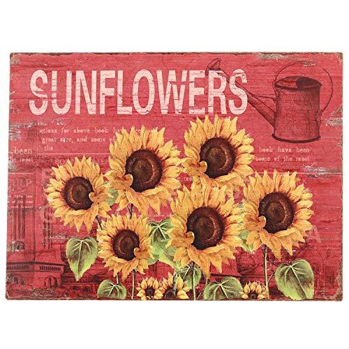 (Barnyard Designs Six Sunflowers Retro Vintage Tin Bar Sign Country Home Decor 10