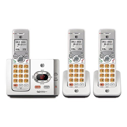 AT&T 3 Handset Cordless Phone with Answering System with caller ID/Call (Voice Message System)