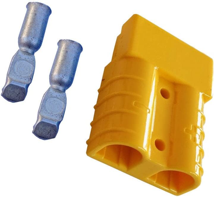Fork Lift Plug Set for Battery Cable Charging Plug 50A 4-6 mm/² Cable Connection and Plug Connection Yellow