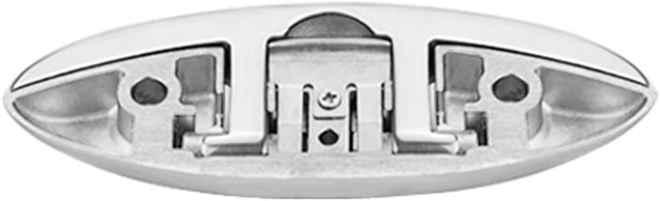 6 Edelstahl Klampe Anlegeklampe Hardware f/ür Boot Marine Klappbar KESOTO 2 TLG