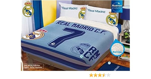 Amazon Real Madrid 40 Fleece Blanket TwinFullQueen Size Home Beauteous Real Madrid Throw Blanket
