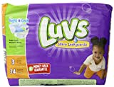 Health & Personal Care : Luvs with Ultra Leak Guards Diapers, Size 3, 34 Count