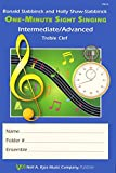 img - for VM13 - One-Minute Sight Singing - Int./Adv. Treble Clef book / textbook / text book
