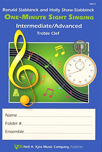 VM13 - One-Minute Sight Singing - Int./Adv. Treble Clef
