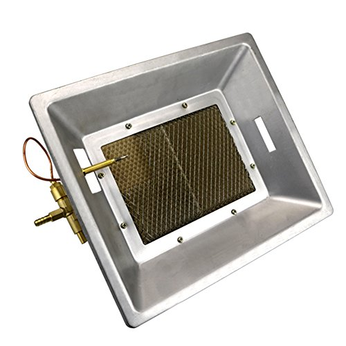 livestocktool.com Manual Infrared Gas Brooder Heater Ceramics Catalytic Heating Hanging on the Wall for Poultry Chicken Coop Duck Piglet Birds House