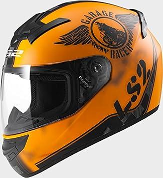 LS2 Casco de Moto FF352 Rookie Ventilador Naranja Mate