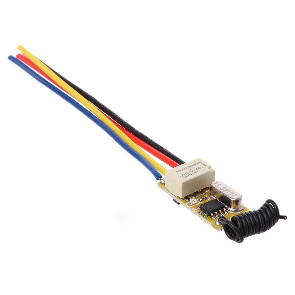 ESden Mini Telecomando Impermeabile RF 1CH 12 V DC 3,7 V a 24 V trasmettitore rel/è Universale 433MHz modulo Ricevitore casa Ufficio