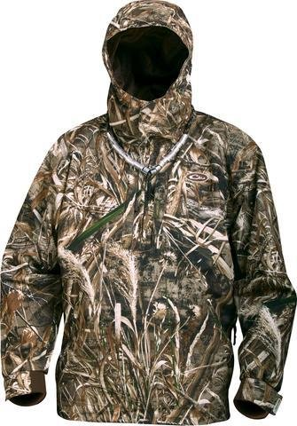 Drake Waterfowl EST Heat Escape Waterproof 1/4 Zip Coat Jacket MAX-5 Camo - 2XL