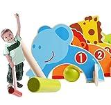 1 Set Wooden Cute Children's Cartoon Baseball Croquet Sports Games Cute Animal Gate Ball Golf Early Educational Kids Toy Gift