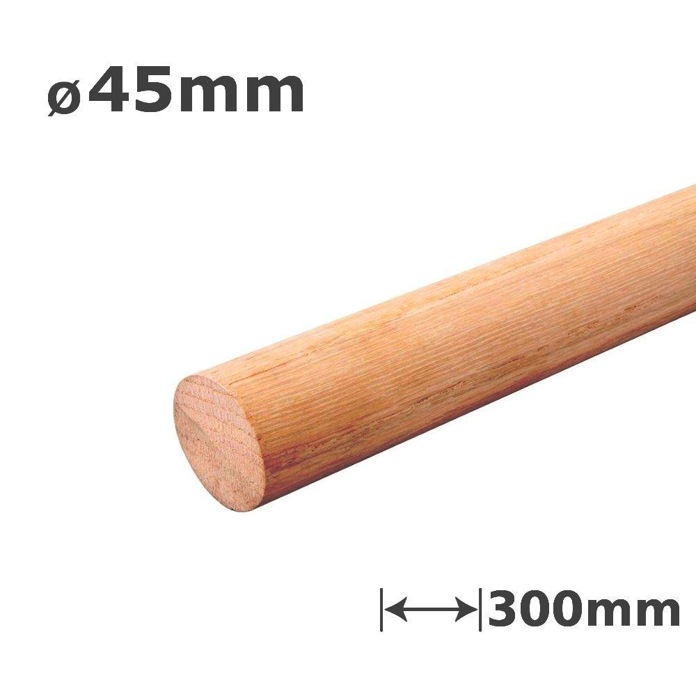 1 x Oak Dowel Smooth Wood Rod Pegs - 300mm Length, 45mm Diameter MODERIX