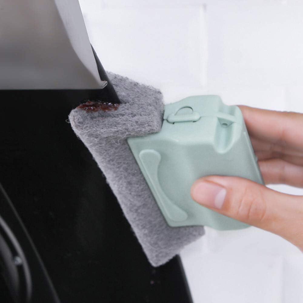 cocina 3 piezas Cepillo de limpieza para rieles de puertas corredizas o ventanas Cepillo de limpieza de ranura de puerta de marco de ventana para ba/ño Gobesty Cepillo de limpieza de riel de ventana