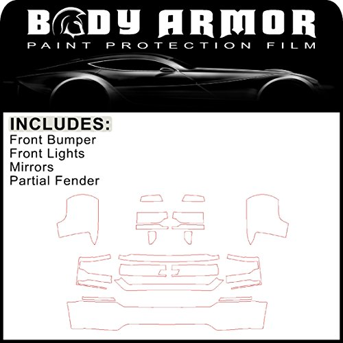 B40 - 2016 2017 Chevy Silverado 1500 - Precut Clear Bra PPF Paint Protection Film Pre Cut Kit - Front Bumper, Partial Fenders, Head Lights, Mirrors