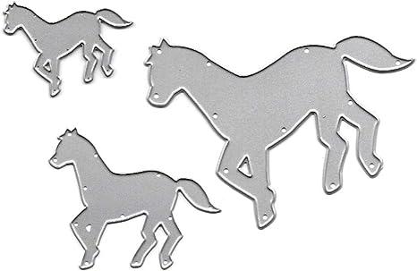 Pferd Metall Cutting Dies Scrapbooking Karten Handwerk Stanzschablone Stencil