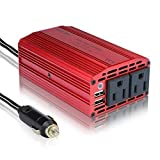 BESTEK 300W Power Inverter DC 12V to 110V AC Car Inverter with 4.2A Dual USB Car Adapter: more info