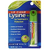 Quantum Lip Clear Lysine + Lip Treatment & Protectant SPF 21, 0.17 oz (Pack of 2)