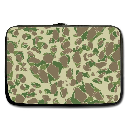 Cheap And Nice 17 Inch Laptop Sleeve Camouflage Green (Double-sided,No Straps) (Camo Netbook Sleeve Green)