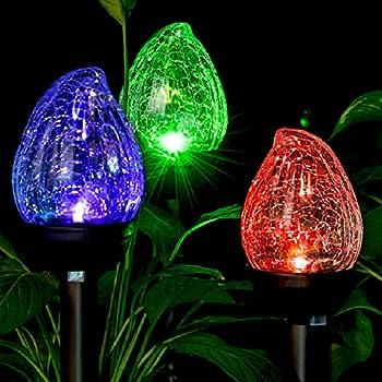 Amazon Com Multi Colored Solar Tube Light Set Garden