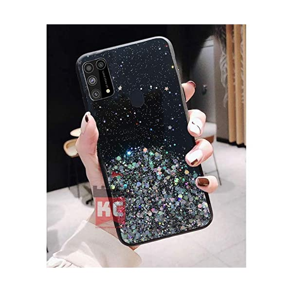KC Starry Night Dry Non Moving Sparkling Bling Shining Glitter Stars Soft Silicone Back Cover for Samsung Galaxy M31… 2021 August It's a dry glitter non moving cover. Glitters and stars are fixed and do not move. This cover doesn't have liquid inside.Thin Style Glitter Stars case, the obligatory accessory for every female. Smooth touch and Anti-Fingerprints. Thick and delicate, matte finish and pure color. Perfectly fits with precision cutouts for all buttons and ports. Please Note - Glitter and Stars are not moving and fixed at one place. Starry Illusion soft Silicone Shockproof back cover Designer Case