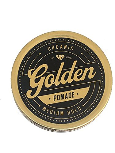 Pomade Organics (6.7 Oz Organic & Natural Hair Pomade Wax & Oil Base - Handcrafted with love in Denmark by Us - Perfect Shine effect for long and short hair - Medium and Flexible Hold - UNISEX -Organic)