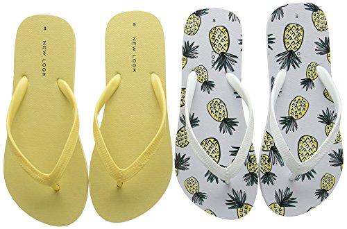 New Look Pinapple - Sandalias Mujer Yellow (Bright Yellow)