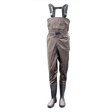 FLy Pesca con Mosca Transpirable En El Pecho Vadeadores Rafting Desgaste Impermeable Wader Pantalones Caza Vadeo Pantalones Monos con Media De Pie