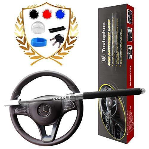 Steering Wheel Lock | Universal Anti-Theft Clamp Heavy Duty Vehicle Safety Rotary Adjustable Lock Self-defense with 3 Keys