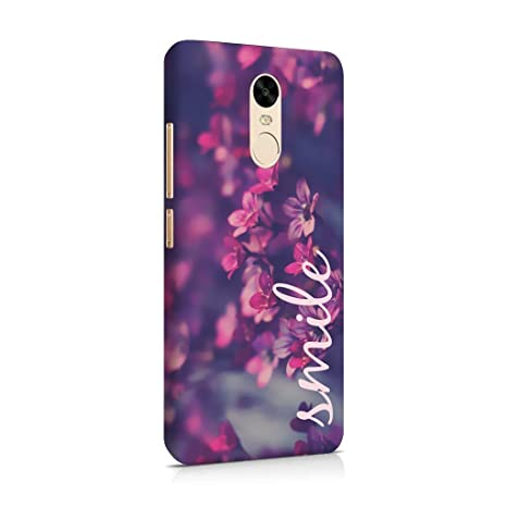 new concept b2ec6 befa9 Madanyu Redmi Note 4 Back Cover - Violet Floral Printed Hard Shell Case