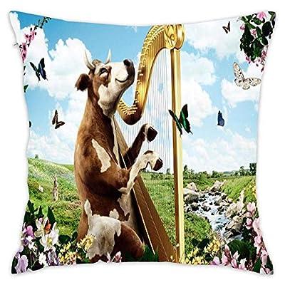 Hwensona Square Decorative Pillow Case Decor Throw Pillow Cover with Hidden Zipper for Bedroom Sofa
