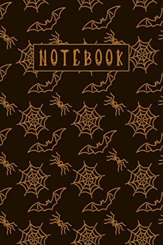 Halloween Icon Text (NOTEBOOK: Halloween Cyano Type White Text Cover, College Rule Line, Each Page Have Day, Date, and Weather Track Icon. 110 Pages with 6 x 9)