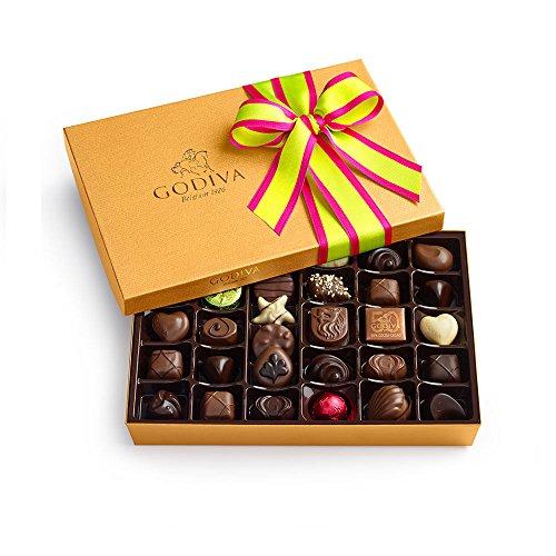 Godiva Chocolatier Spring Gold Ballotin, 36 Count