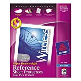 Avery 74131 Top-Load Poly Sheet Protectors, Super Heavy Gauge, Letter, Nonglare (Box of 50)