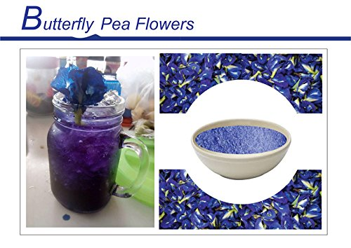 Flowers Tea Butterfly Pea Flower with Pandan Get Wood Spoon Set Origin in Thailand