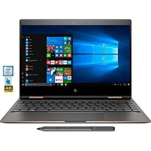 "HP Spectre x360 2-in-1 13"" 4K Ultra HD Touch Laptop 8th Gen Intel Core i7-8550U 16GB Ram Thunderbolt HP Active Pen Plus Best Notebook Stylus Pen light (1TB SSD UPGRADE