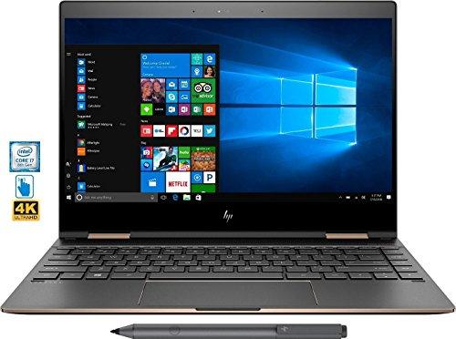 "HP Spectre x360 2-in-1 13"" 4K Ultra HD Touch Laptop 8th Gen Intel Core i7-8550U 16GB Ram Thunderbolt HP Active Pen Plus Best Notebook Stylus Pen light (512GB SSD|16G RAM|WIN 10 HOME) (Internet Service Hp With Tablet)"