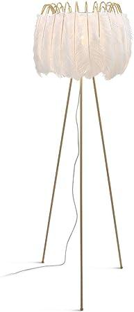 Lámpara de pie para salón Lámpara de pie de Pluma Habitación de Sala de Estar Moderna y Minimalista Dormitorio Creativo Arte Lámpara de pie Lámparas de pie: Amazon.es: Hogar