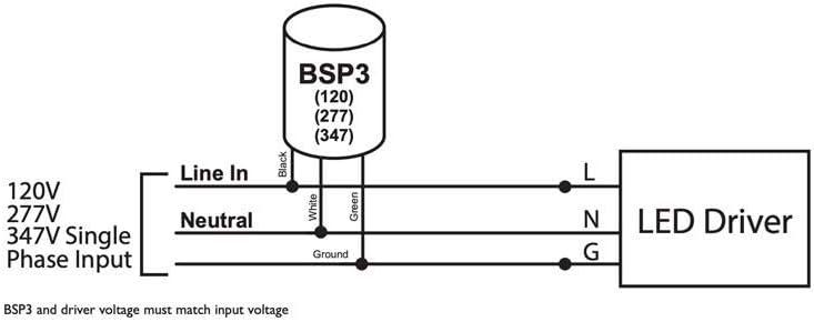 Hubbell BSP3-277-KA Surge Protector