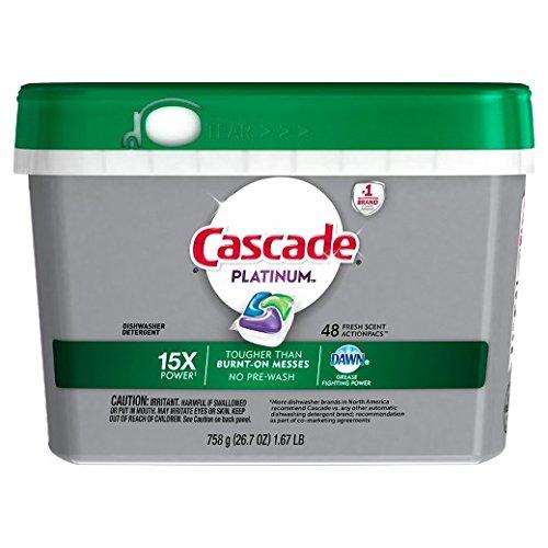 Cascade Platinum Fresh Scent ActionPacs Dishwasher Detergent