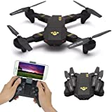Bubile Wifi RC Quadcopter, Foldable Remote Control 2MP Camera Drone