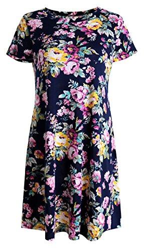 Gemijack Womens Sleeve Floral T Shirt