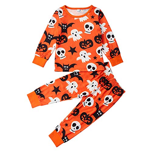 Uideazone Kids Pajamas Girls Long Sleeve Halloween Pjs