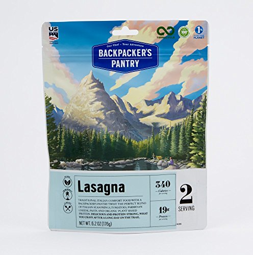 Backpacker's Pantry Lasagna, Two Serving Pouch, (Packaging May Vary)​ (Pantry Backpackers)