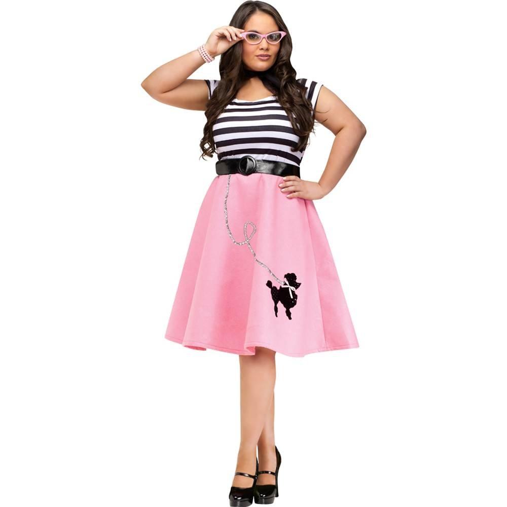 Plus Poodle Skirt Dress Plus Size Costume 3X