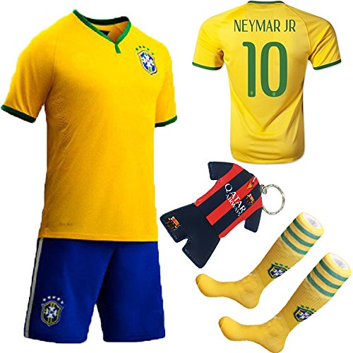 KID BOX 2014 FWC #10 Soccer Football Jersey Sportswear Team Polo Shirt & Short & Sock for Kids 3-14 Years