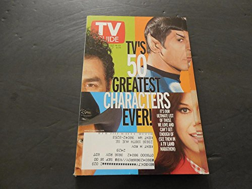 TV Guide Oct 16-22 1999, 50 Greatest Characters Ever