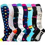 Compression Socks for Women & Men(1/7 PACK) - Best for Running, Athletic  Sports, Crossfit, Flight Travel-20-30 mmHg (Small/Medium (US Women  7-10 5/US